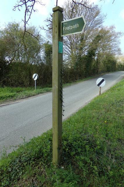 Lovers Lane Footpath sign