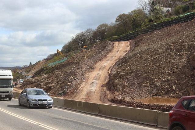 Works access track near Gilwern