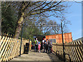 SE1338 : Shipley Glen Tramway: queue for tickets by Stephen Craven