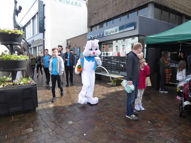 Easter bunny, Omagh