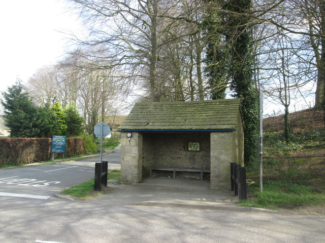 The bus shelter at Pilsley