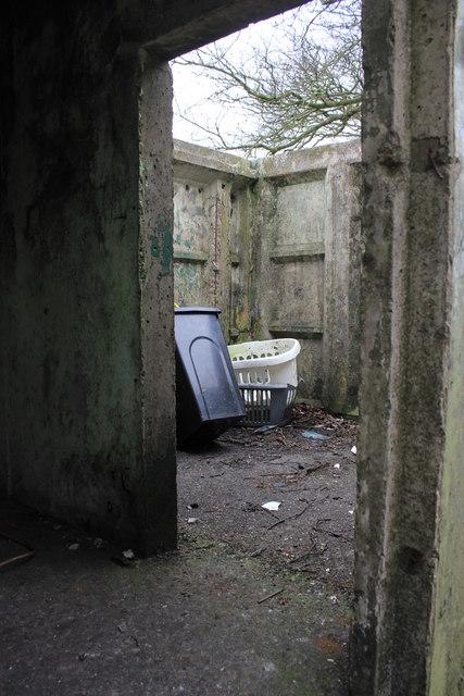 Interior of Orlit B Observer Post on Snowdon Hill
