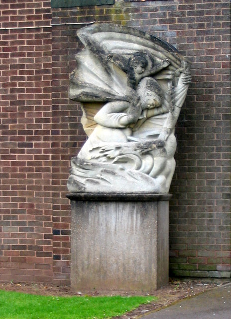 St Christopher sculpture