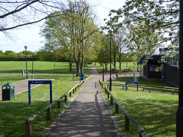 Public footpath through school grounds, Wells