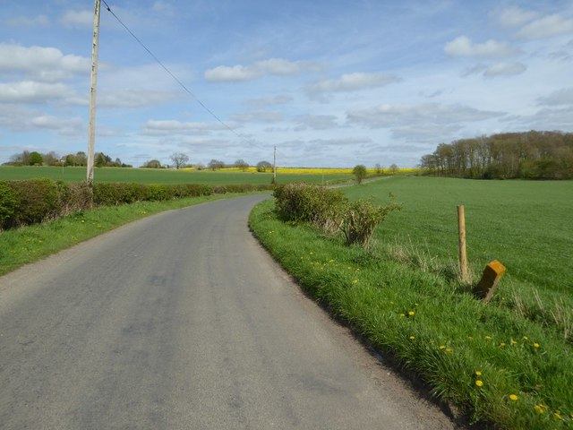 Country road passing near HMP Hewell