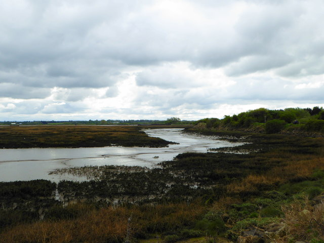 Riverside Country Park, The river Medway estuary at low tide