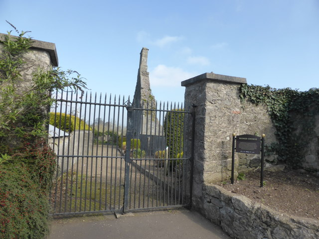 Entrance to ruined church and graveyard, Loughgall, Co Armagh, Northern Ireland