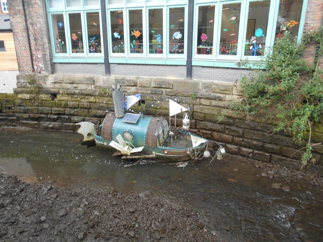 A Boat on the Ouse Burn