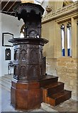 ST6601 : Cerne Abbas, St. Mary's Church: Richly carved oak pulpit of 1640 1 by Michael Garlick
