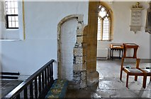 ST6601 : Cerne Abbas, St. Mary's Church: Remains of the c14th church seen in the chancel by Michael Garlick