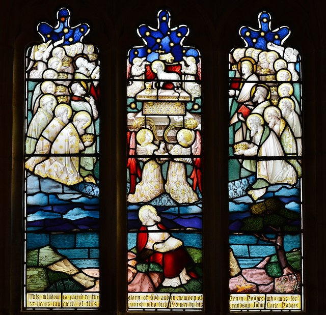 Cerne Abbas, St. Mary's Church: Stained glass window