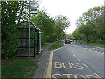 TL2512 : Bus stop and shelter on Black Fan Road (B195) by JThomas