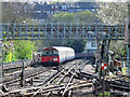 TQ2992 : Lines south of Arnos Grove tube station by Mike Quinn
