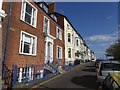 SY0080 : Nelson House and other terraced house, The Beacon, Exmouth by David Smith