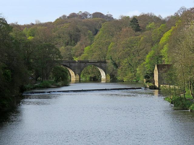 Durham: upstream from Framwellgate Bridge
