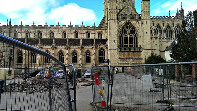 Gloucester Cathedral forecourt, Gloucester