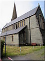 SS9079 : South side of St Mary's Church Nolton Bridgend by Jaggery