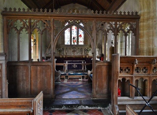 Melbury Bubb, St. Mary's Church: The chancel screen