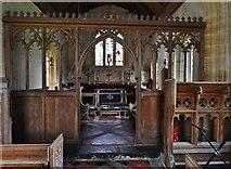 ST5906 : Melbury Bubb, St. Mary's Church: The chancel screen by Michael Garlick
