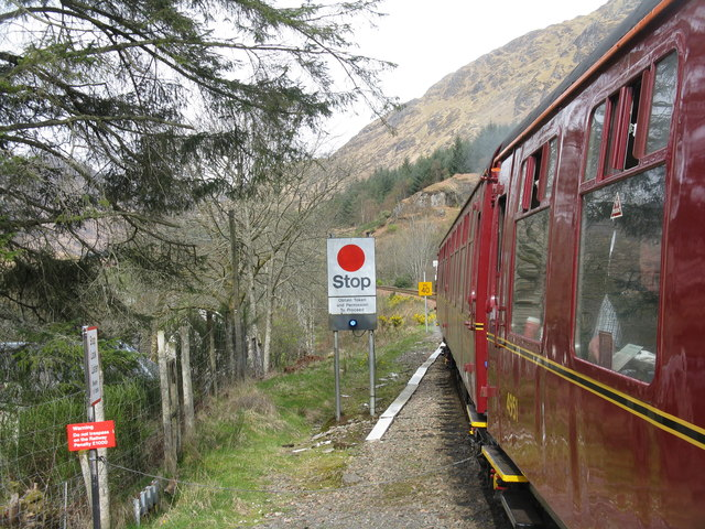 Looking west from Glenfinnan Station
