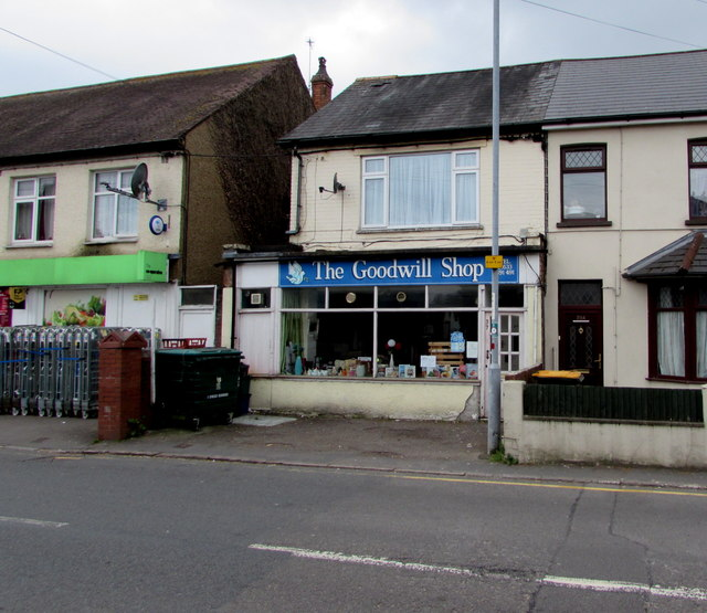 the goodwill shop rogerstone newport jaggery geograph britain