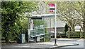 J3568 : Bus stop and shelter, Cairnshill, Belfast (April 2017) by Albert Bridge