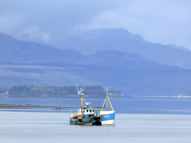 Fishing boat PW64 Trevose off Port Glasgow