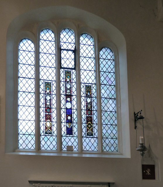 Medieval glass in All Saints
