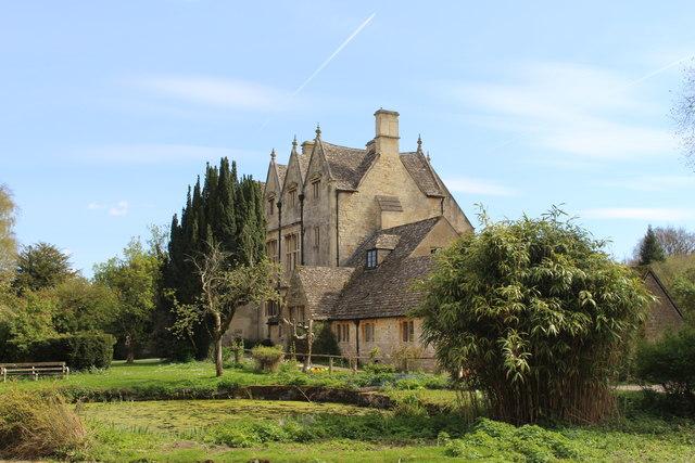 Whittington Court and fishpond