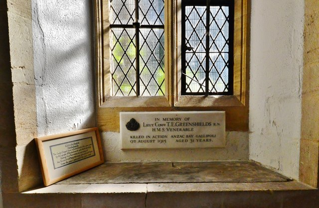 Hawkchurch: St. John the Baptist's Church: The Greenshields memorial plaque