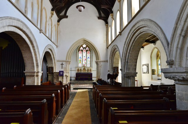 Hawkchurch: St. John the Baptist's Church: The nave