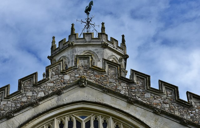 Colyton, St. Andrews Church: Tower detail 2
