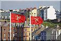 SC2484 : Isle of Man flags, Peel by Stephen McKay