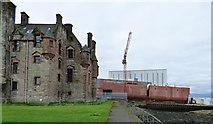 NS3274 : Newark Castle, Port Glasgow by Thomas Nugent