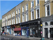 TQ2784 : Shops and flats on England's Lane, NW3 by Mike Quinn