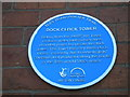 NZ5020 : Blue plaque affixed to Middlesbrough Dock clock tower by Richard Vince