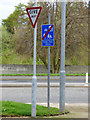 NS3374 : Robert Street Home Zone sign by Thomas Nugent