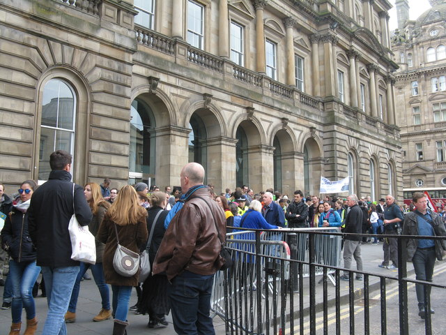 1d850098b7c Assembling for the Edinburgh 'March for... © M J Richardson cc-by-sa ...
