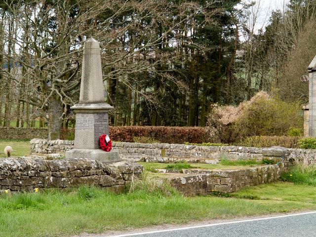 Corsenside Parish War Memorial