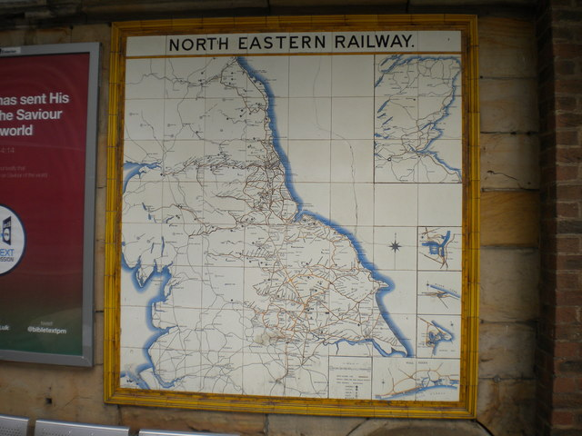 North Eastern Railway tile map, Middlesbrough station