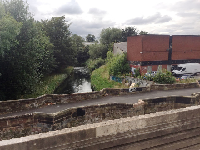 River Tame at Perry Bridge, Perry Barr, Birmingham