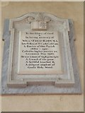 TG2834 : St Botolph, Trunch: memorial (viii) by Basher Eyre