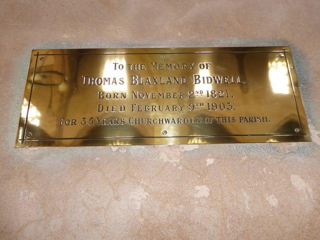 St Botolph, Trunch: memorial (xi)