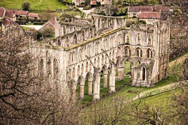 Rievaulx Abbey as seen from Rievaulx Terrace