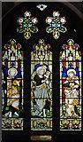 TQ0682 : St John the Baptist, Hillingdon - Stained glass window by John Salmon