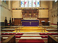 TQ1469 : St Mary the Virgin, Hampton - Sanctuary by John Salmon