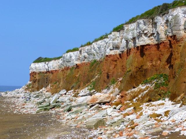 Coastal erosion of Hunstanton cliffs