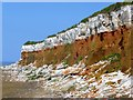 TF6741 : Coastal erosion of Hunstanton cliffs by Richard Humphrey