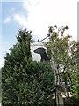 TM1959 : The half hidden sign of 'The Doberman' public house by Adrian S Pye