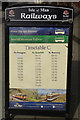 SC4384 : Laxey timetable by Stephen McKay